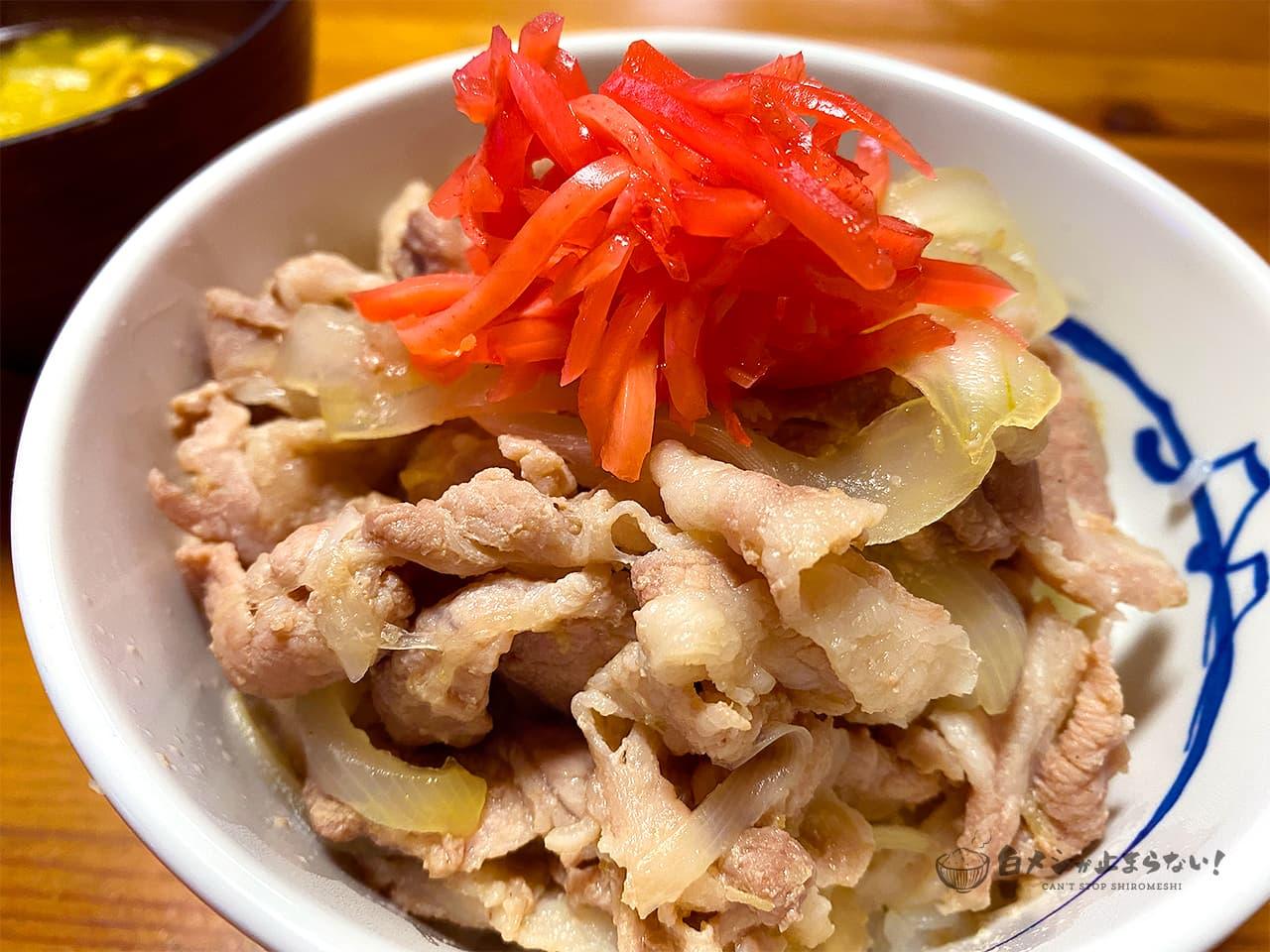 完成した豚丼